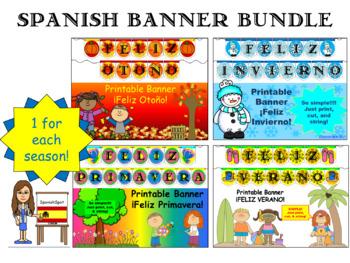 Spanish Banner Bundle- 1 for each season!