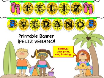 Spanish Banner- ¡FELIZ VERANO!
