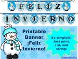 Spanish Banner- ¡Feliz Invierno!