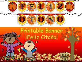Spanish Banner- ¡Feliz Otoño!