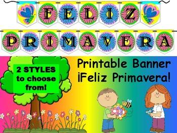 Spanish Banner- ¡Feliz Primavera!
