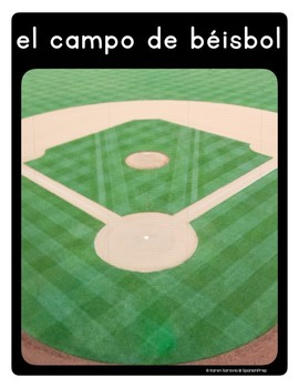 Spanish Baseball Vocabulary Posters & Flashcards with Real Photos