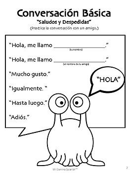Spanish Basic Conversation Exercises (K-2)