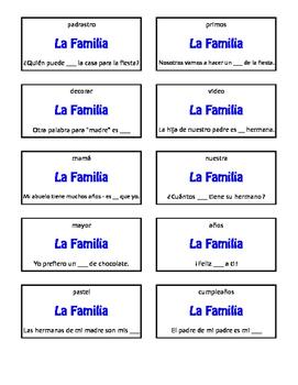 Spanish Basic Family Circle Puzzle