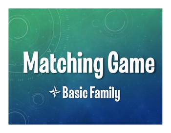 Spanish Basic Family Matching Game