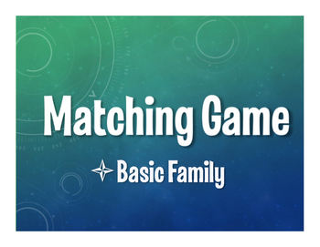 Spanish Basic Family Matching Game