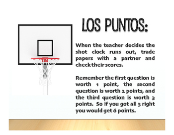 Spanish Basic Gustar Basketball
