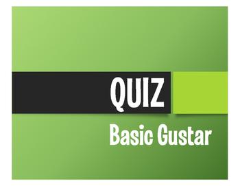 Spanish Basic Gustar Quiz