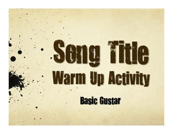 Spanish Basic Gustar Song Titles