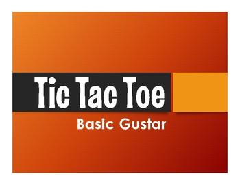 Spanish Basic Gustar Tic Tac Toe Partner Game