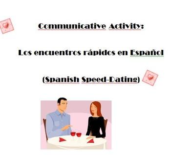 Spanish Basic Information Communication Activity - Spanish Speed Dating