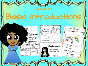 Spanish Basic Introductions Preview Packet