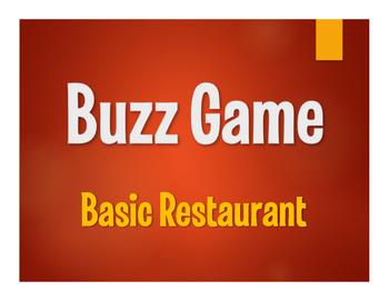 Spanish Basic Restaurant Buzz Game