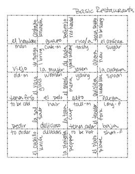 Spanish Basic Restaurant Jigsaw Puzzle
