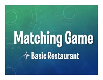Spanish Basic Restaurant Matching Game