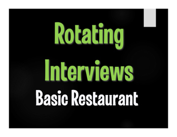 Spanish Basic Restaurant Rotating Interviews