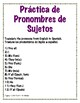 Spanish Basic Sentence Structure Practice Stations