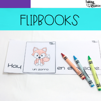 Spanish Speech Therapy Basic Vocabulary Activities: El Bosque (Forest)