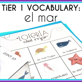 Spanish Speech Therapy Basic Vocabulary Activities El Mar o Oceano