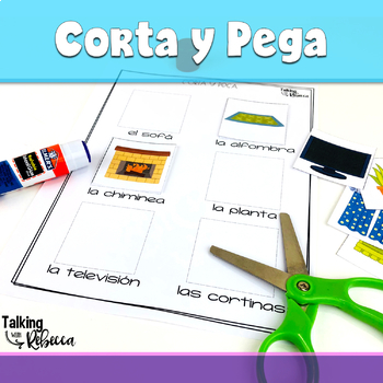 Spanish Speech Therapy Basic Vocabulary Activities: La Casa (House)