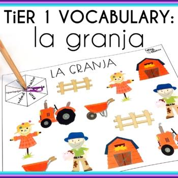 Spanish Speech Therapy Basic Vocabulary Activities: La Granja (Farm)