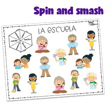Spanish Speech Therapy Basic Vocabulary FREEBIE: La Gente en la Escuela