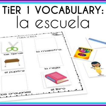 Spanish Speech Therapy Basic Vocabulary: La Escuela (School)