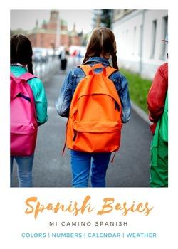 Spanish Basics Bundle! Greetings, Alphabet, Numbers, Color