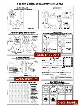 Spanish Basics Hard Copy Workbooks! - BOOK 2 (Ground shipping included!)