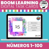 Spanish Basics: Numbers 0-100 Boom Deck digital task cards