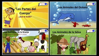 Spanish Basics PowerPoint Presentations! (17 Presentations in all!)
