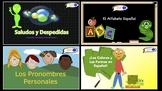 Spanish Basics PowerPoint Presentations! (17 Presentations