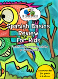 Spanish Basics Review Workbook! (Grades 3 or Higher) PRINT & GO!