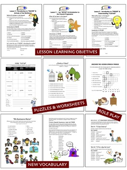"""Spanish Basics Workbook """"Book 2"""" for Grades 3-6! (104 PAGES!)"""