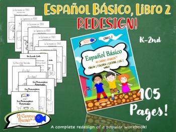 Spanish Basics Workbook! Book 2 (Over 100 worksheets!) UPDATED & IMPROVED!