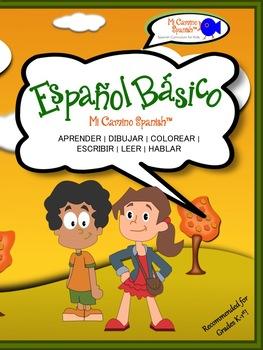 Spanish Basics Workbook for Grades K-1! (Over 100 worksheets!)