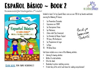 Spanish Basics for Kids Workbooks - The Complete Series Overview!