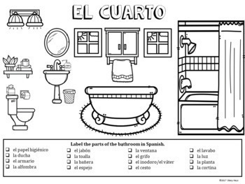 Spanish Bathroom Labeling Activity