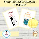 Spanish Bathroom Posters (en español) with Pictures