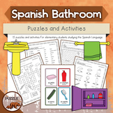 Spanish Bathroom Puzzles and Activities