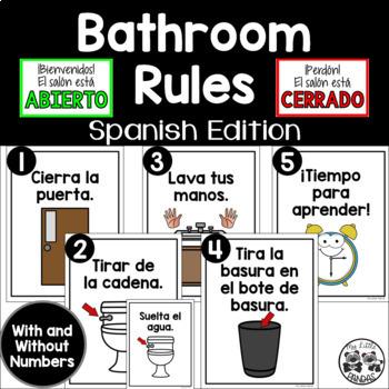 Spanish Bathroom Rules By My Little Pandas Teachers Pay Teachers