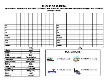 Spanish Battleship Game