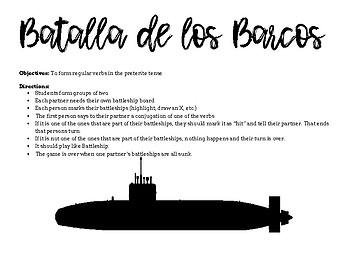 Spanish Battleship - Preterite Tense