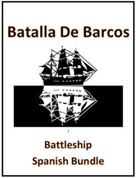 Spanish Verb Conjugation Review Game Battleship Bundle of