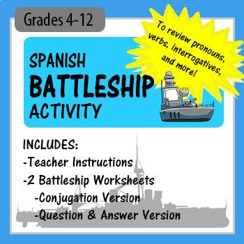 Spanish Battleship! - to review conjugation, interrogatives, basic phrases