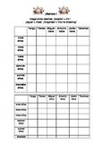 Spanish Teaching Resources. Battleships Game/  Lotto Grid: