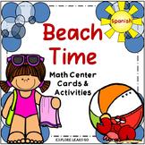 Spanish Beach Time Math Center / Montessori Style / Hands-on Activities