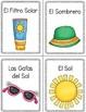 Spanish Beach Vocabulary Flashcards