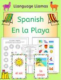 Spanish Summer Beach Vacation - En la playa - activities, puzzles, bingo