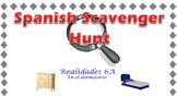 Spanish Bedroom Items Scavenger Hunt (Realidades 6A)
